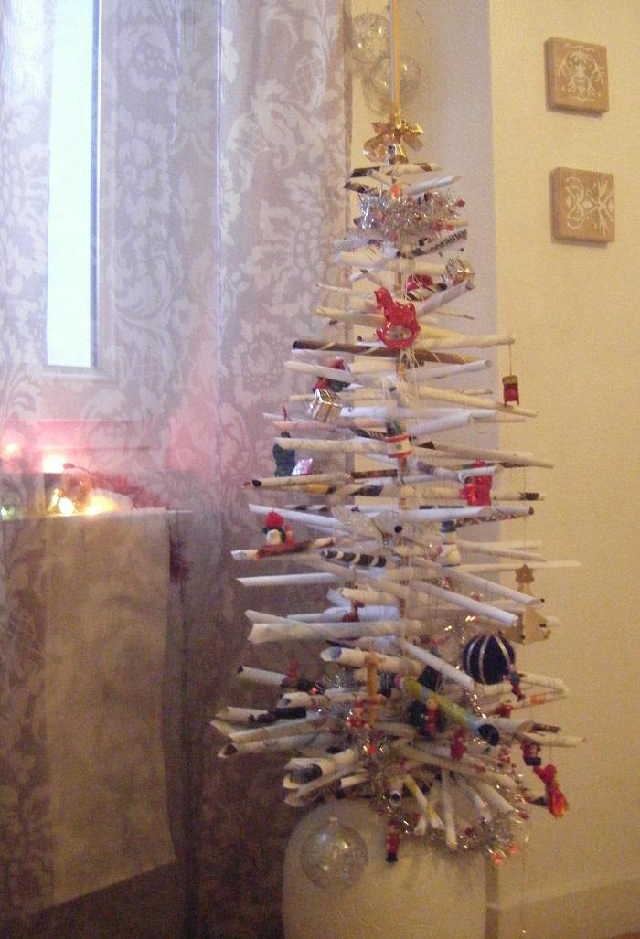 ... reste 3 semaines pour fabriquer un sapin de Noël écolo et pas cher